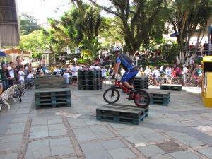 Quem estava presente também pôde conferir uma apresentação de bike Trial com Marcio Rodrigues, campeão brasileiro na categoria