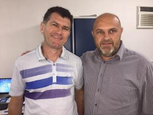 Fernando Leite ao lado de Marcos Guzzon Foto: Carlos Mello (Jornal da Economia)
